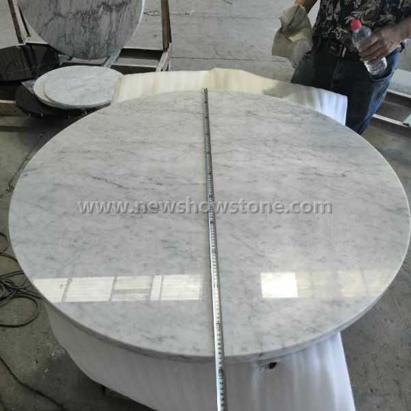 Bianco Carrara Marble Table Top