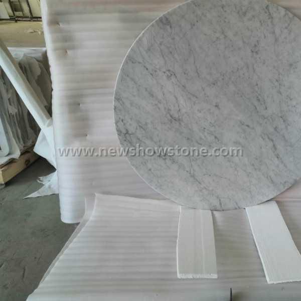 Bianco Carrara Marble Round Countertop