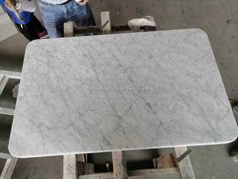 Rectangle Carrara White Italian Mable Top