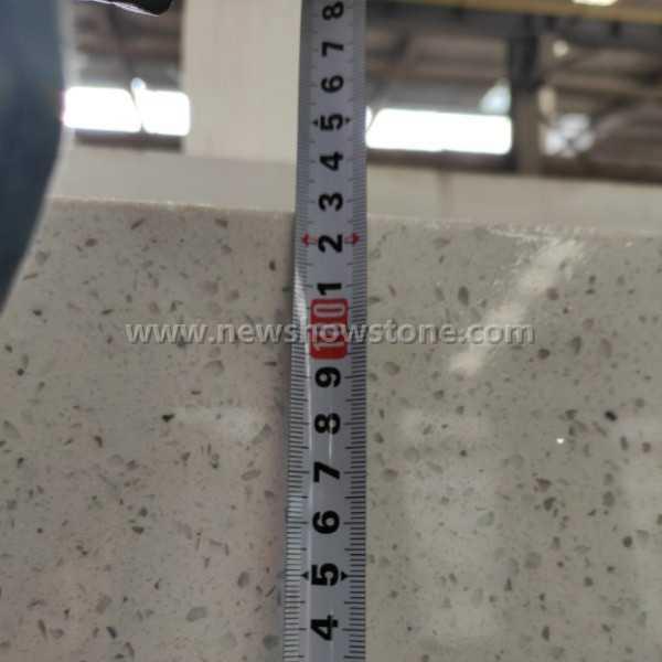 Crystal White Quartz slab 160cm width