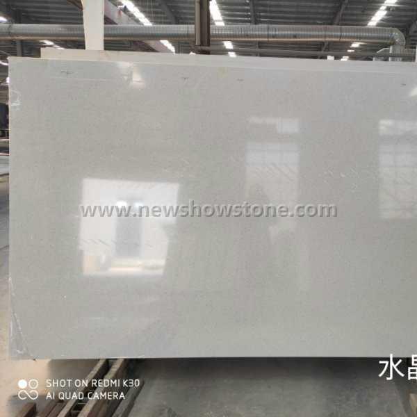 Crystal White Quartz slab