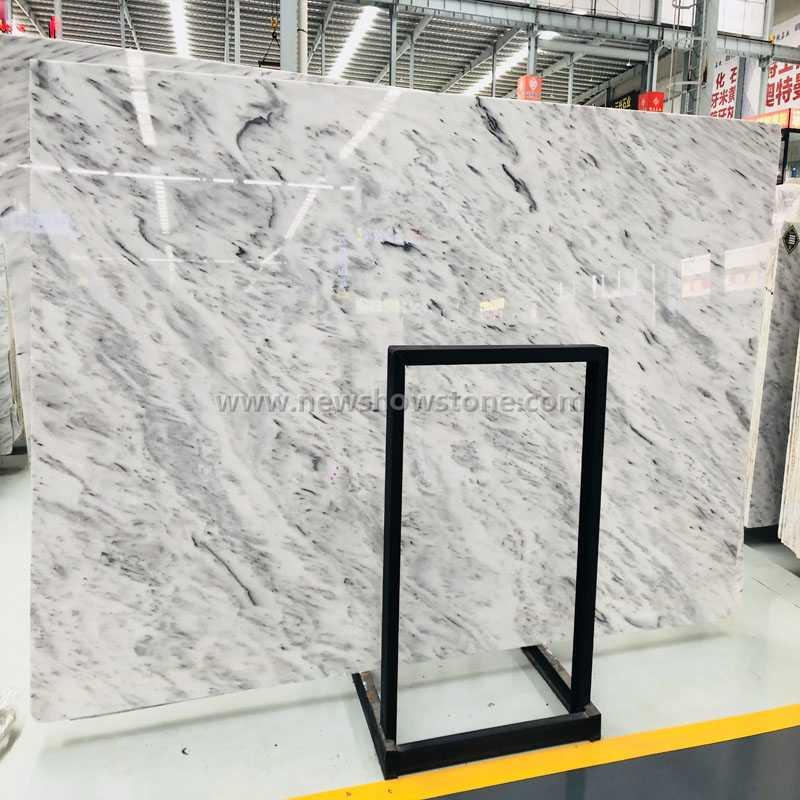 Tesla white Marble big slab