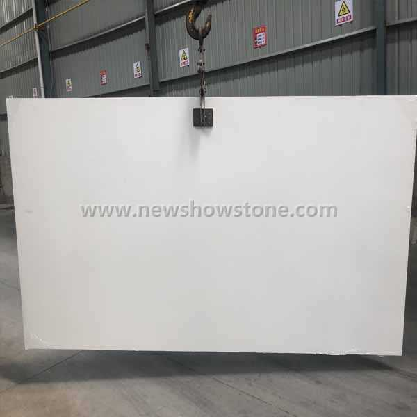 Snow white artificial marble