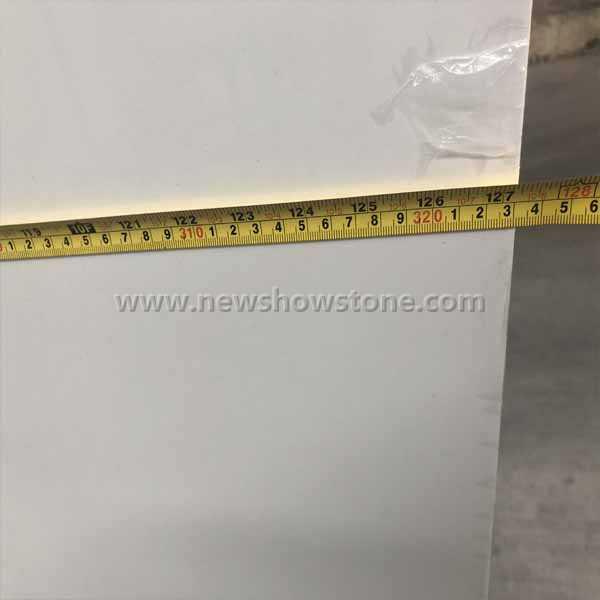 Snow white artificial marble 320cm