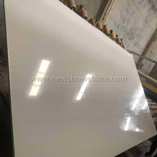 Snow white artificial marble polishing