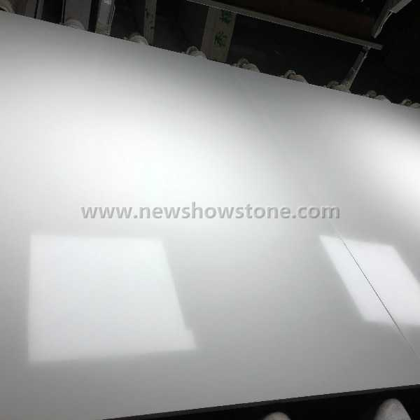 White artificial marble slab