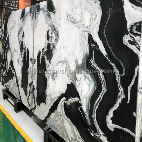 Panda White Marble Slab for Project