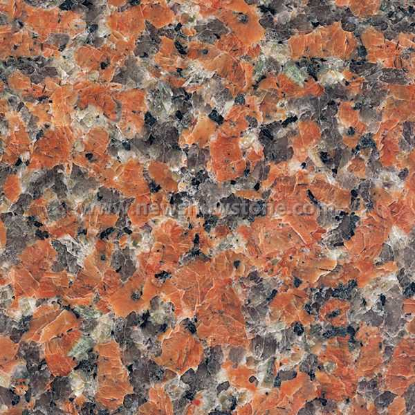 G562 Granite Maple Leaves Red